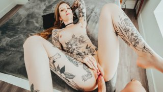 Tattooed Blonde Penny Archer Rough Hookup Sex - First Class POV