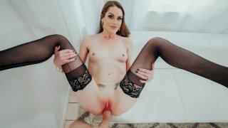 Aria Khaide's Intense Pussy Pounding Ends in Messy Facial - First Class POV